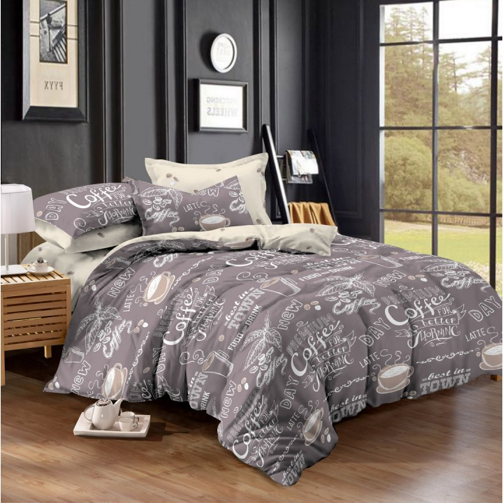 Постельное белье поплин 1.5 спальное K-936
