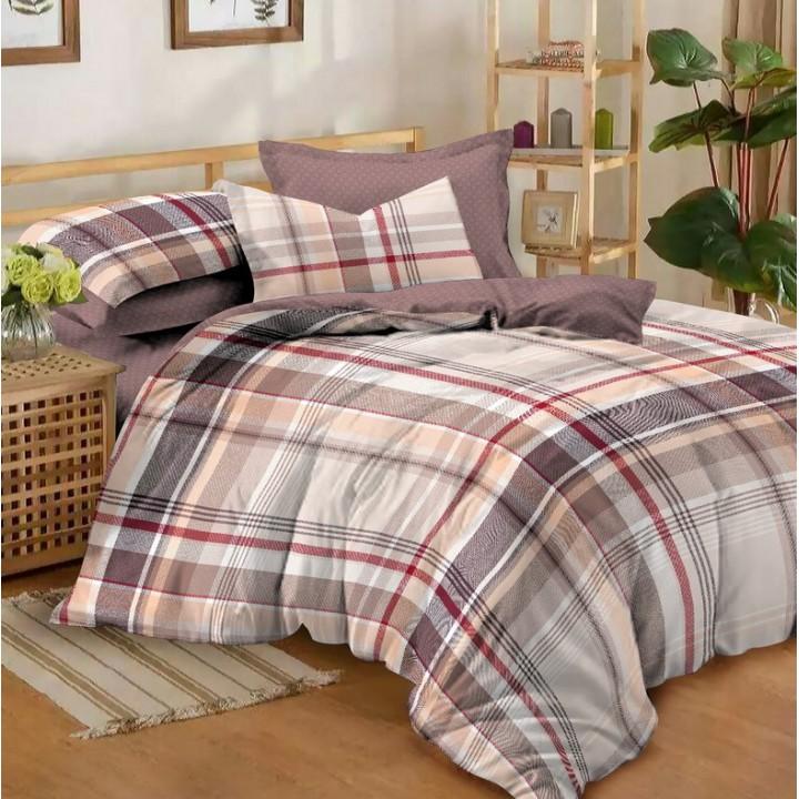 Постельное белье из поплина - 2 спальное - простыня на резинке 160х200х25 - K-988