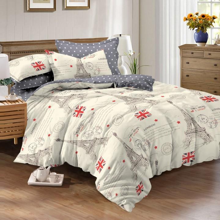 Постельное белье поплин 1.5 спальное K-994