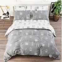 Пододеяльник 1.5 спальный поплин - Кактусы