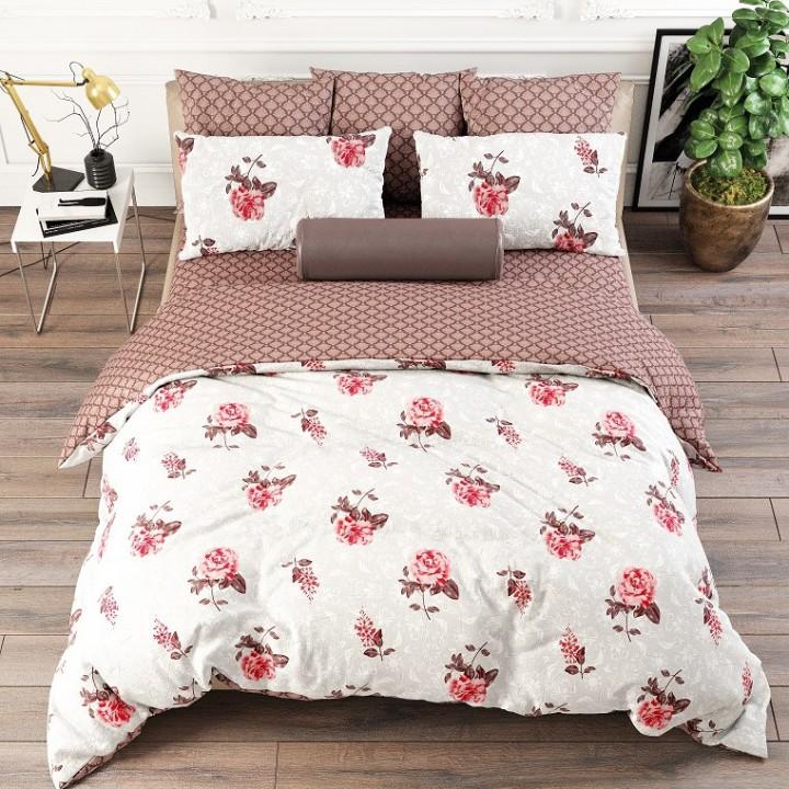Постельное белье из поплина - 2 спальное - простыня на резинке 160х200х25 - Розанна