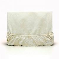 Постельное белье из поплина - 2 спальное - простыня на резинке - Жемчуг