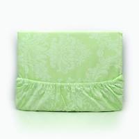 Постельное белье из поплина - 2 спальное - простыня на резинке 160х200х25 - Изумруд