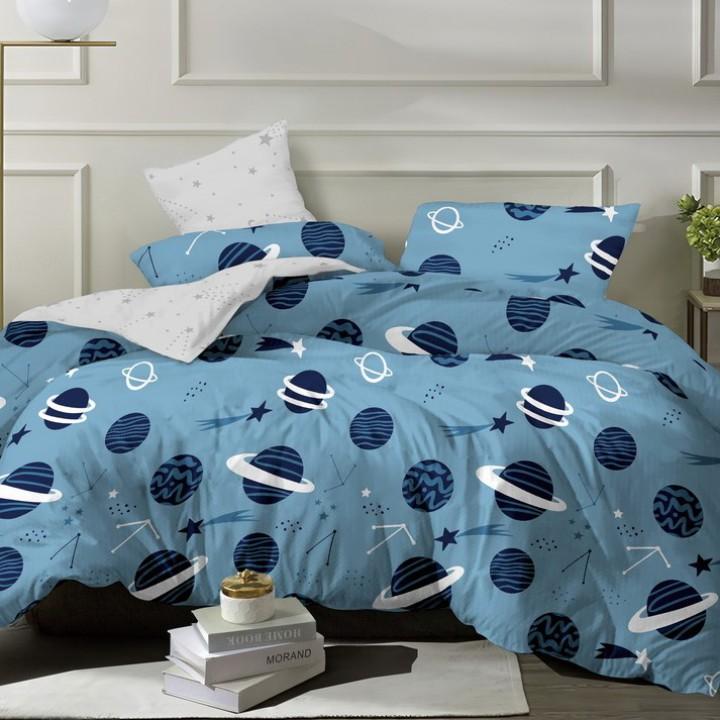 Постельное белье из поплина - 2 спальное - простыня на резинке 160х200х25 - P-5043