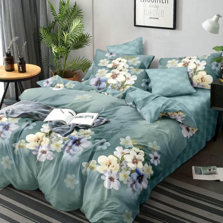 Постельное белье из поплина - 2 спальное - простыня на резинке 160 х 200 х 25 - PL-1503
