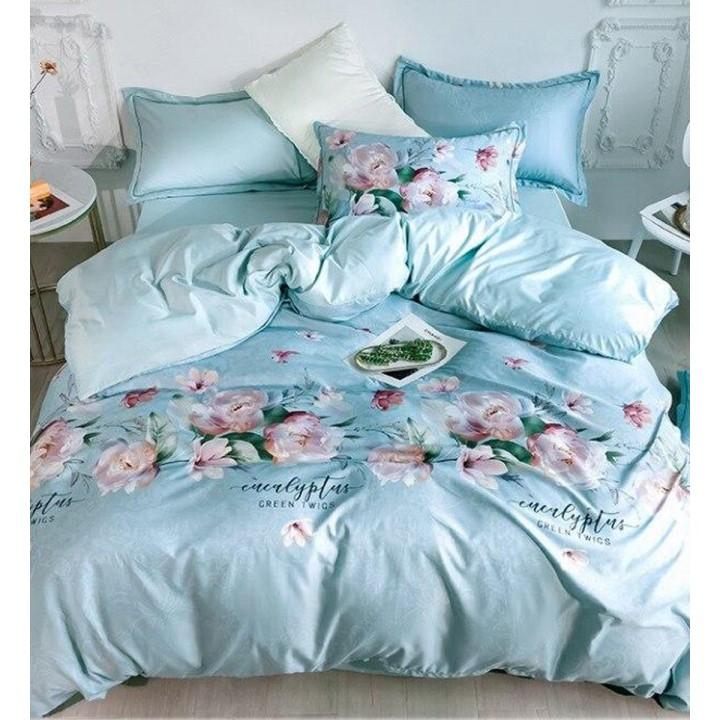 Постельное белье из поплина - 2 спальное - простыня на резинке 160х200х25 - PL-1703
