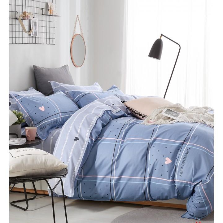 Постельное белье из поплина - 2 спальное - простыня на резинке 160х200х25 - PL-1760