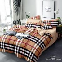 Постельное белье из поплина - 2 спальное - простыня на резинке 160х200х25 - PT-306