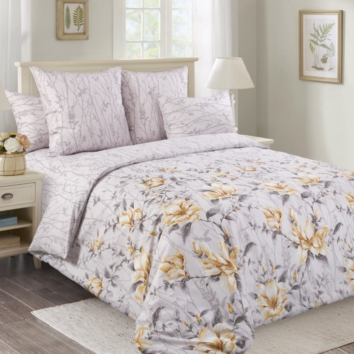 Постельное белье перкаль 2 спальное на резинке 180х200х25 - 20487-1