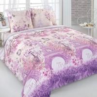 Постельное белье перкаль 2 спальное простыня на резинке 160х200, рис. 20655-1