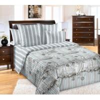 Постельное белье перкаль 2 спальное на резинке 180х200х25 - Акватория