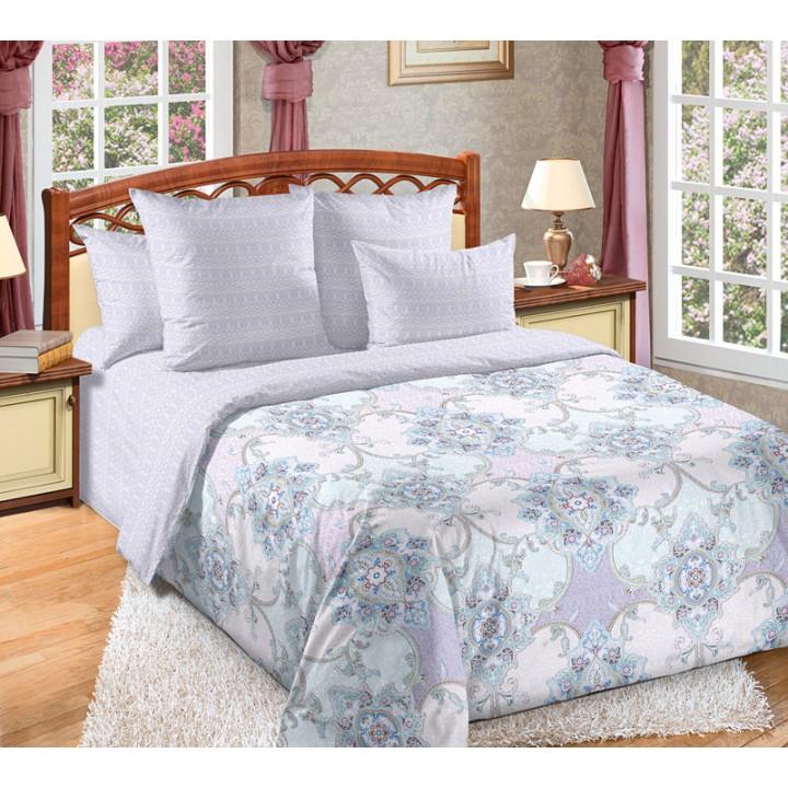 Постельное белье перкаль 2 спальное на резинке - Амулет