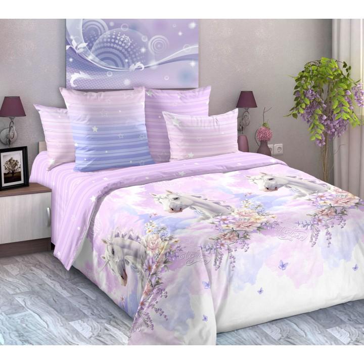 Постельное белье перкаль 2 спальное на резинке 160х200х25 - TD-20886-1