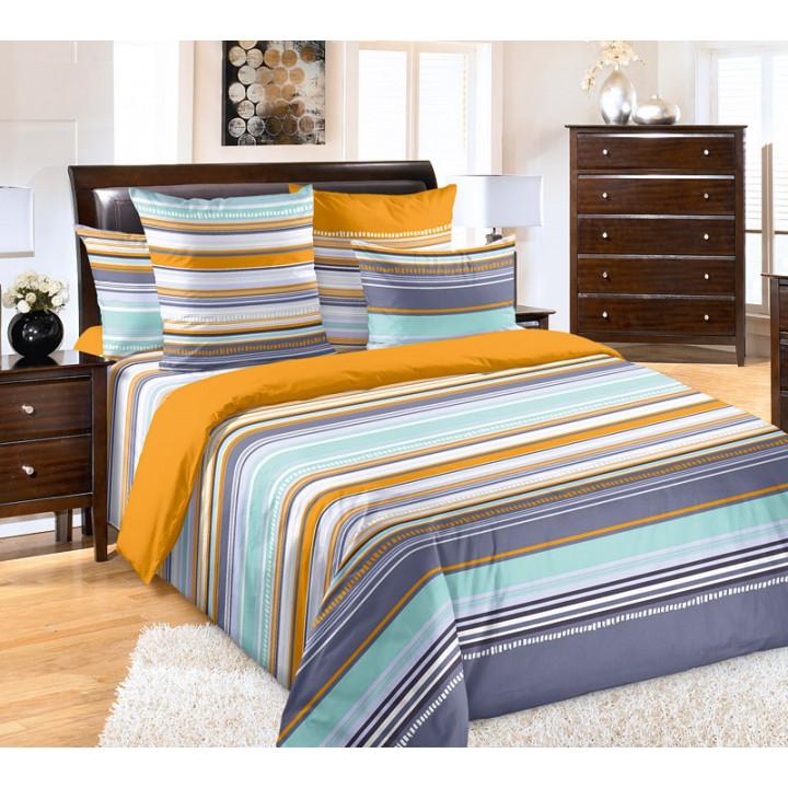 Постельное белье перкаль 2 спальное на резинке - Дакота