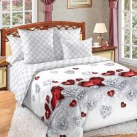 Постельное белье перкаль 2 спальное на резинке - Драгоценность