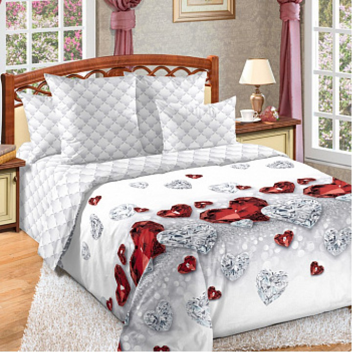 Постельное белье перкаль 1.5 спальное Драгоценность