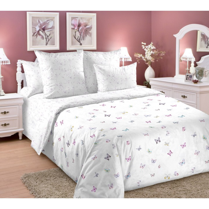 Постельное белье перкаль 1.5 спальное  TD-20883-2, Рай на двоих