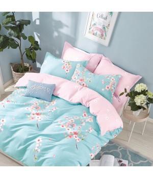 Комплект постельного белья ЕВРО сатин  DA4-131 Постельное белье
