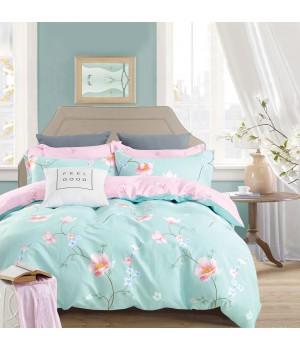 Комплект постельного белья ЕВРО сатин  DA4-136 Постельное белье