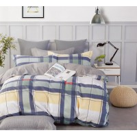 Постельное белье сатин 2 спальное с простыней на резинке - ES-988
