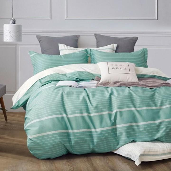 Постельное белье сатин 2 спальное с простыней на резинке 180х200 - OT-019
