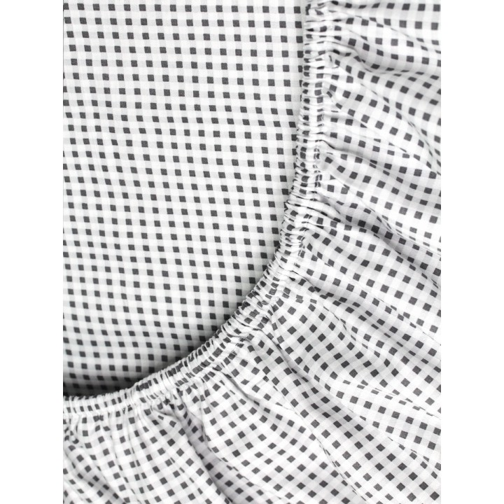 Простыня на резинке 180х200 сатин - рис. DA-186