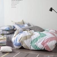 Постельное белье сатин 2 спальное с простыней на резинке 160х200 - PT-210
