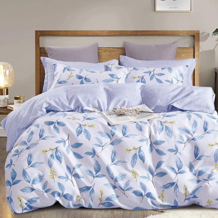 Постельное белье сатин 2 спальное с простыней на резинке 160х200 - PT-2118