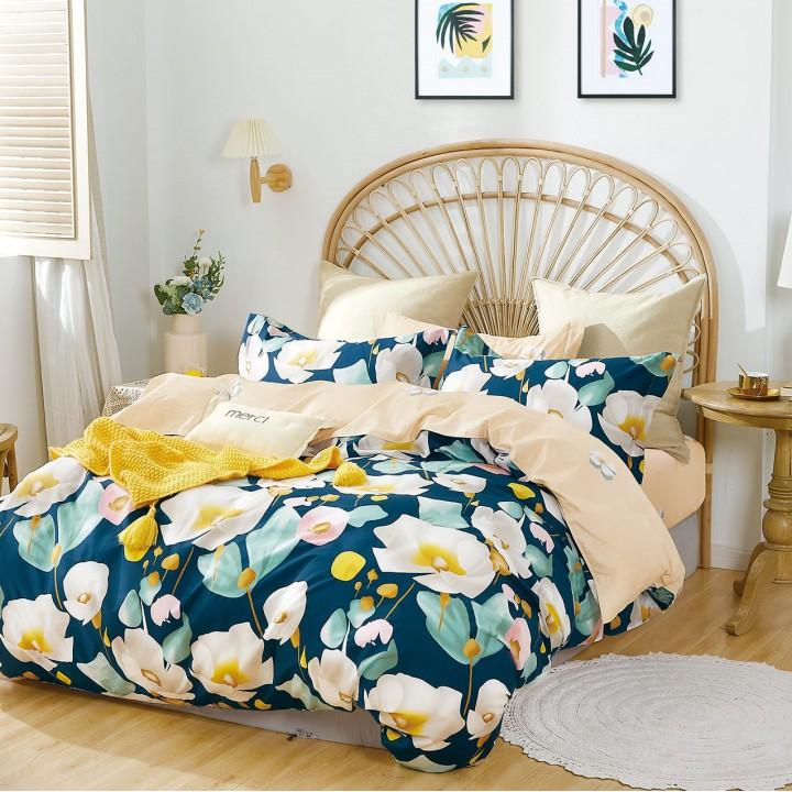 Постельное белье сатин 2 спальное с простыней на резинке 160х200 - PT-2120