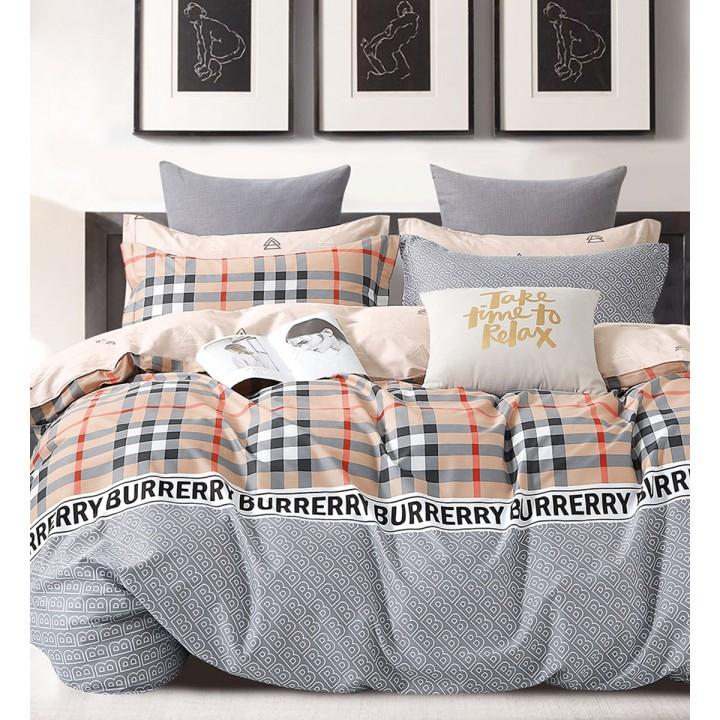 КПБ сатин 2-спальное с простыней на резинке 160х200 - PT-654