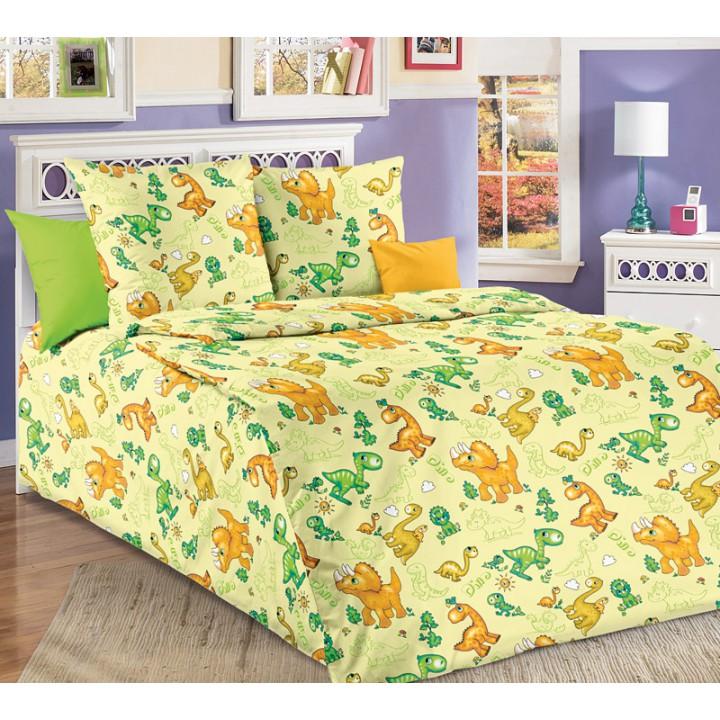 Детское постельное белье бязь 1.5 спальное Динозаврики