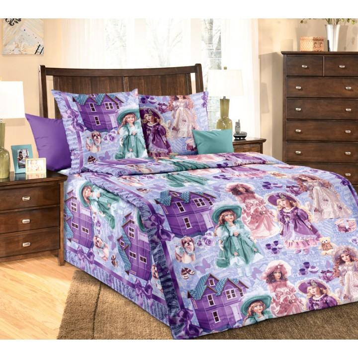 Детское постельное белье бязь 1.5 спальное Куклы