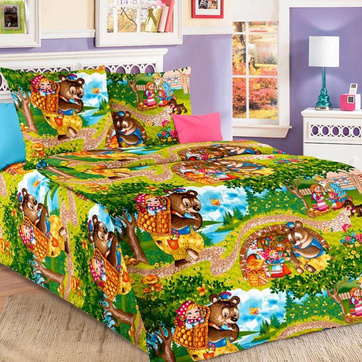 Детское постельное белье бязь 1.5 спальное Машенька
