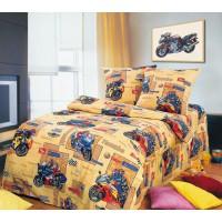 Детское постельное белье бязь 1.5 спальное Мотоспорт
