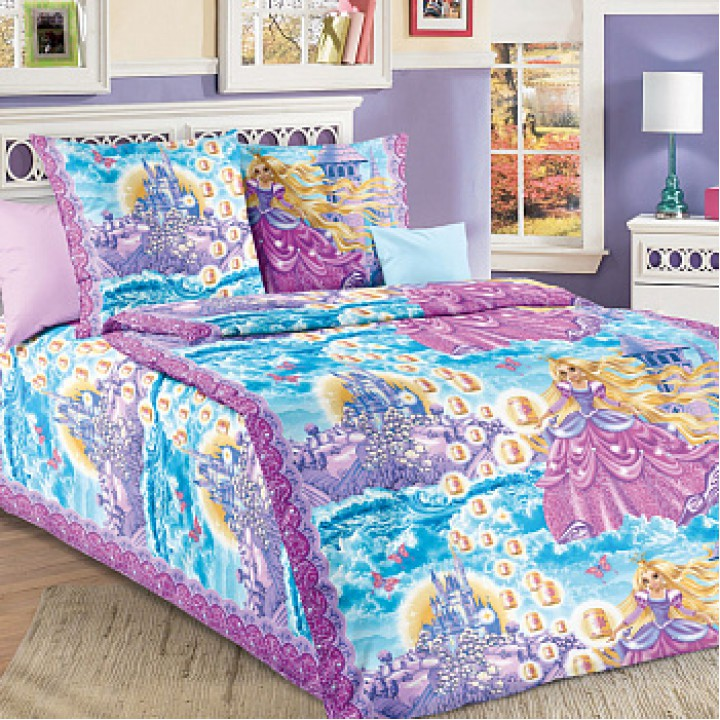 Детское постельное белье бязь 1.5 спальное Принцесса