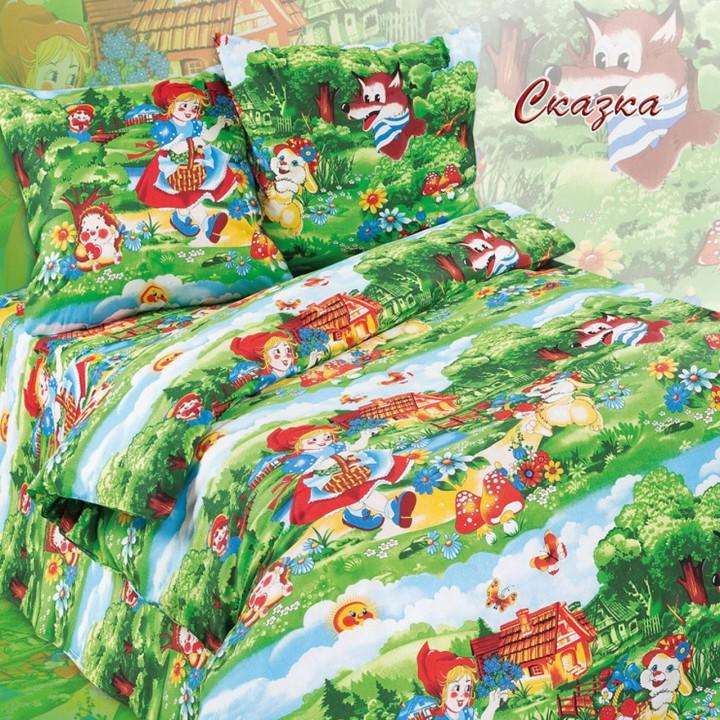 Детское постельное белье бязь 1.5 спальное Сказка