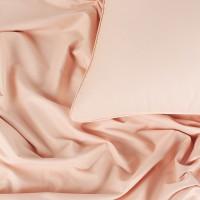 Постельное белье сатин 1.5-спальное, однотонное Нежно розовый