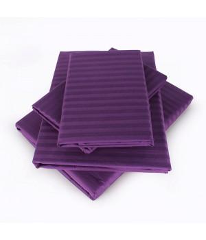 Сатин-страйп 2сп. 4 наволочки фиолетовый