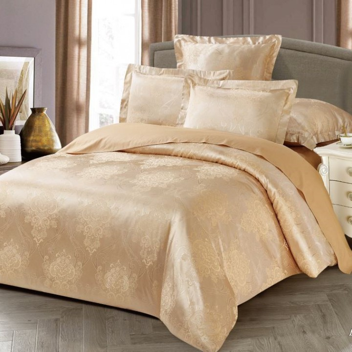 Постельное белье сатин-жаккард 1.5 спальное, L-1007