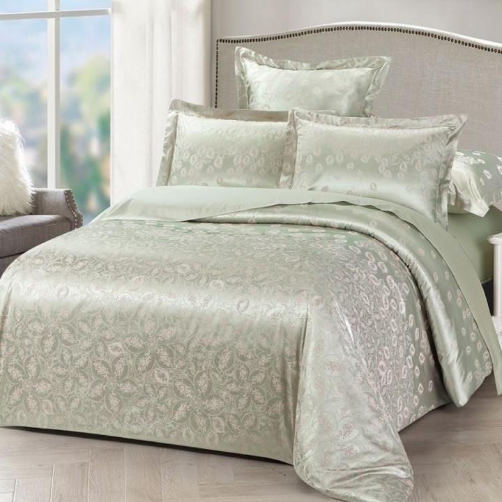 Постельное белье сатин-жаккард премиум 2 спальное L-1108