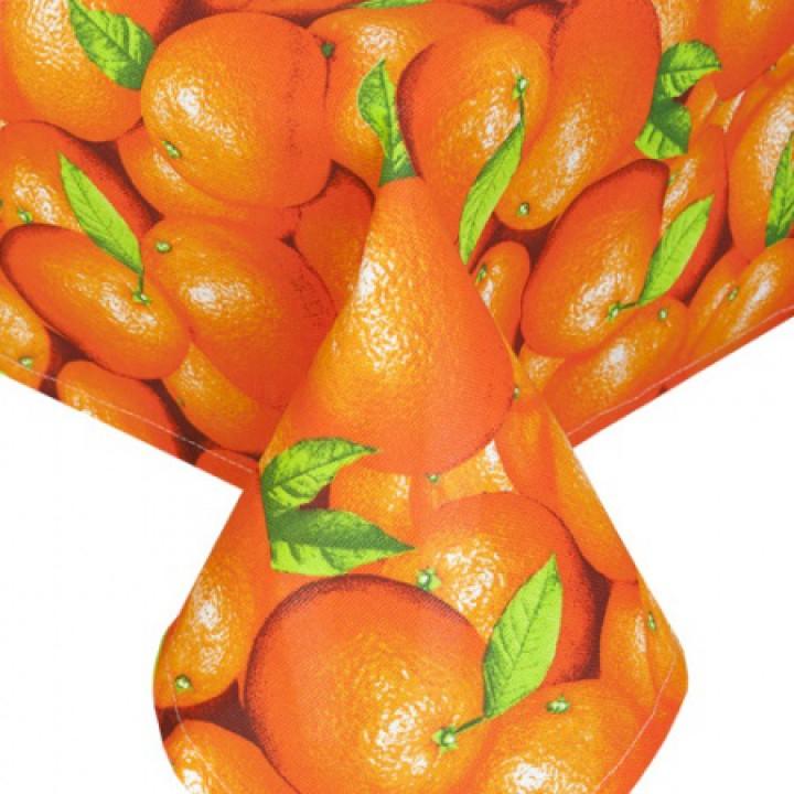 Скатерть рогожка 150х200, Апельсины