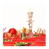 Скатерть рогожка 150х200, Рождественский букет