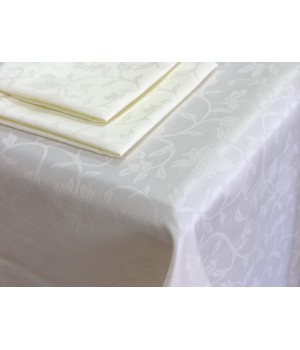 Набор: Скатерть 150х250см,+ 8 салфеток, Журавинка, Белый