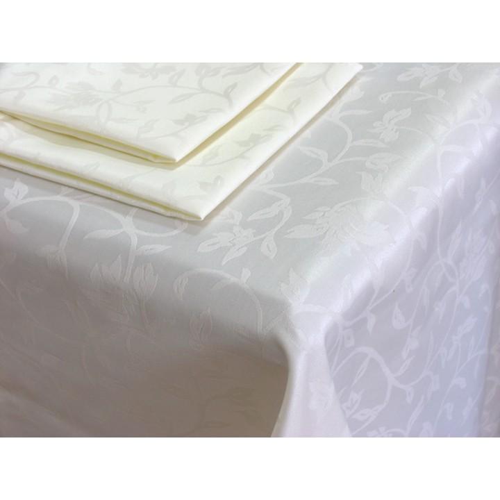 Скатерть 150х250 и салфетки 8 шт. 34х34 Журавинка, цвет белый