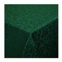 Скатерть Журавинка 150х250, темно-зеленая