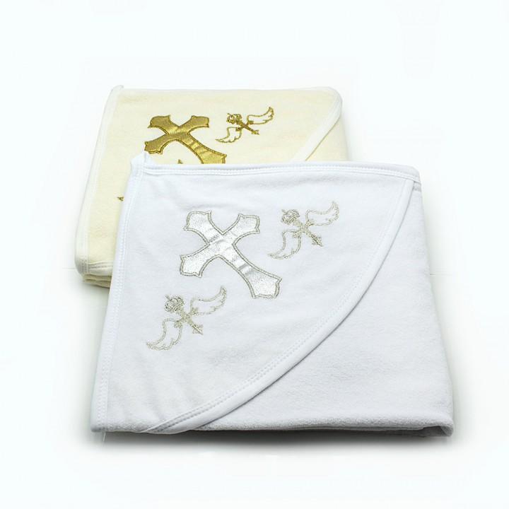 Крестильное полотенце для детей с вышивкой 80х90
